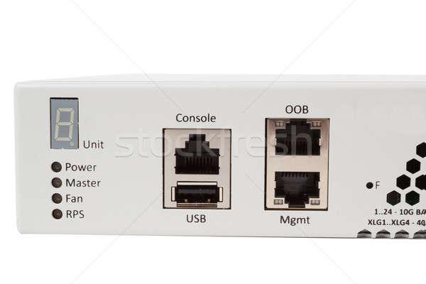 Ethernet przełącznik włókno optyczny moduł Zdjęcia stock © artush