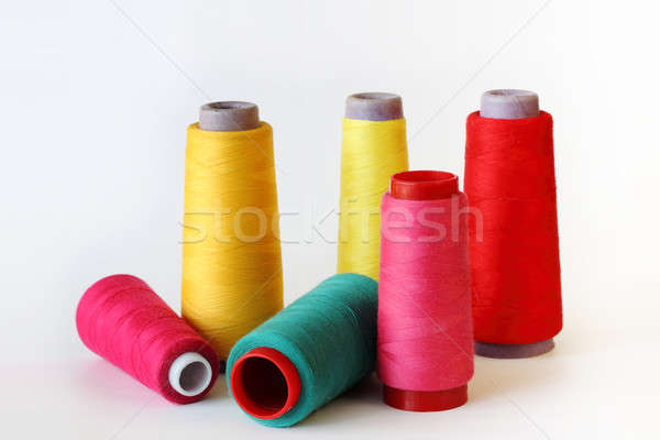 colored thread to sew on white  Stock photo © artush