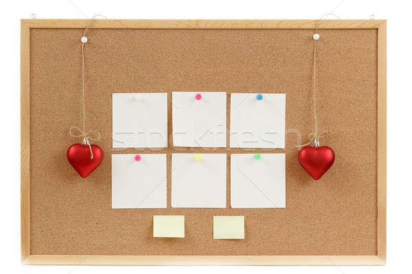 üres parafa tábla Valentin nap üzenet fából készült levél Stock fotó © artush