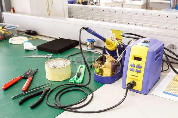electronics equipment assembly workplace Stock photo © artush