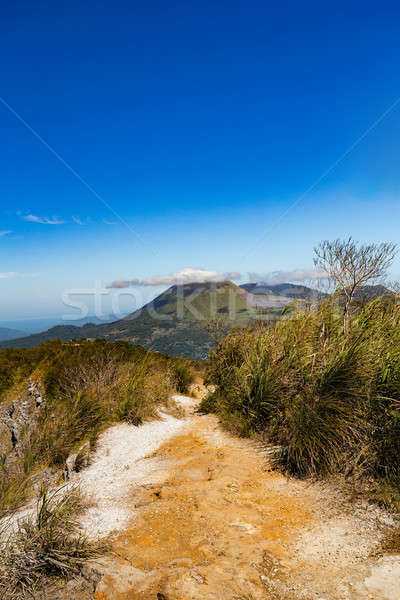 Vulcão Indonésia caminho em torno de ilha Foto stock © artush
