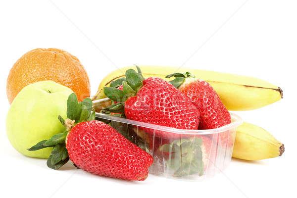 Frescos dieta frutas manzana naranja plátano Foto stock © artush
