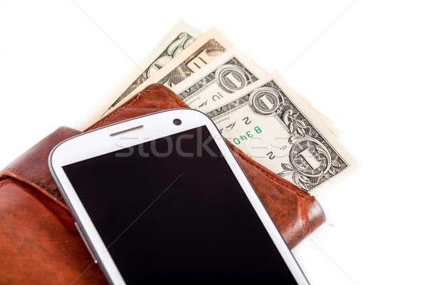Ceny biały drogi ustawy telefonu Zdjęcia stock © artush