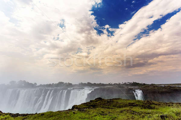 The Victoria falls with mist from water Stock photo © artush