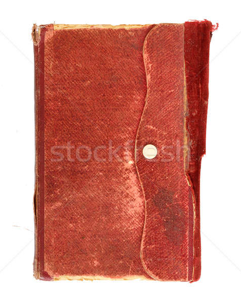 very old note book on white Stock photo © artush