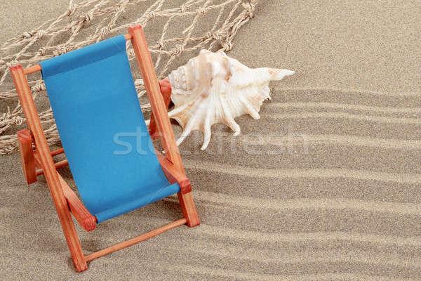 Still Life with seashell and sun lounger Stock photo © artush