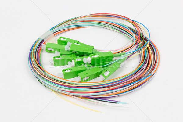green fiber optic SC connectors Stock photo © artush