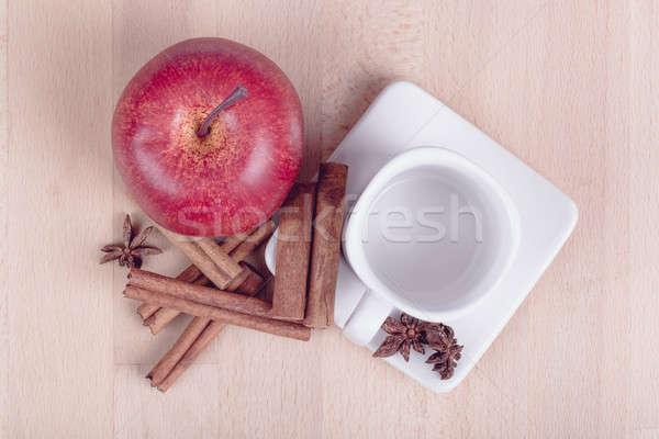 яблоко корицей пусто Кубок белый Сток-фото © artush