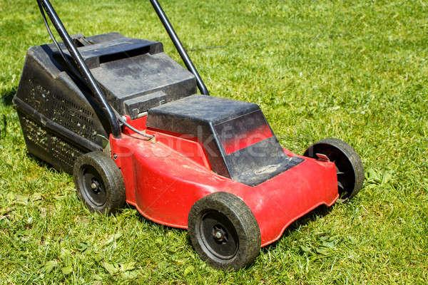 Lawnmower on grass Stock photo © artush