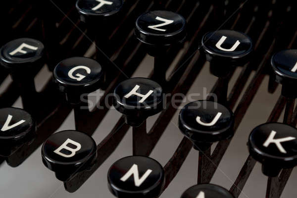 detail of keys on retro typewritter Stock photo © artush