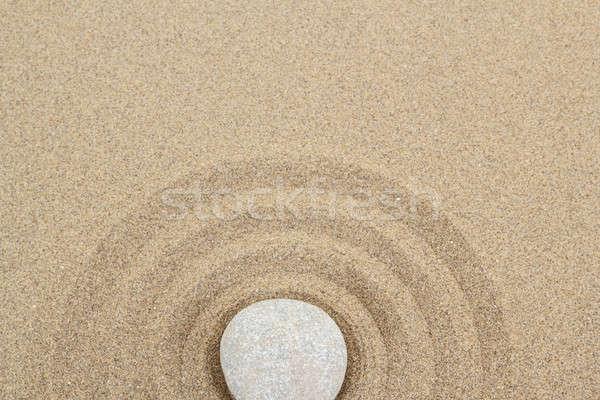 Photo stock: Zen · pierre · sable · pierres · soft