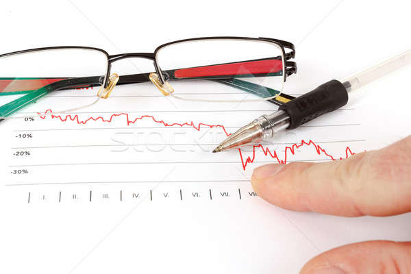 men analyzing business graph with glasses in the background Stock photo © artush