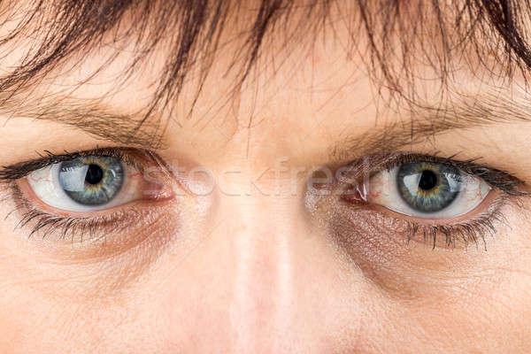 middle age woman eyes macro Stock photo © artush