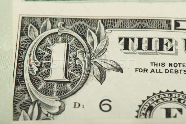 macro of one US dollar money banknote Stock photo © artush