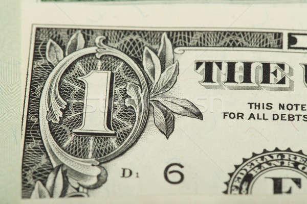 Macro um dólar dinheiro fundo Foto stock © artush
