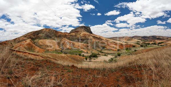 Traditional Madagascar hill landscape Stock photo © artush
