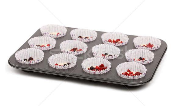 raw homemade Muffin isolated on white background Stock photo © artush