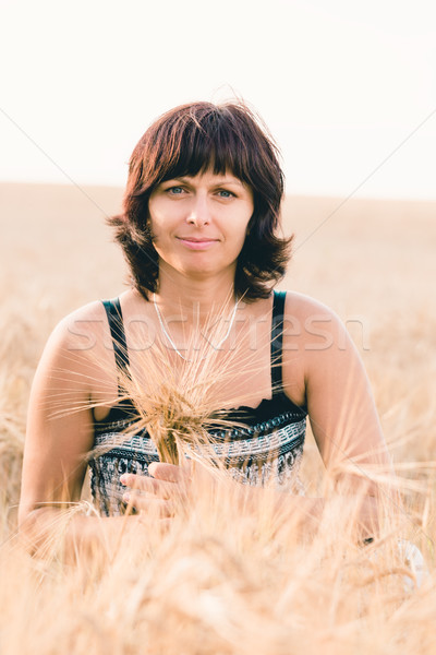 красоту женщину ячмень области лет Сток-фото © artush