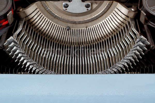 ストックフォト: レトロな · タイプライター · キー · メカニズム · 文字