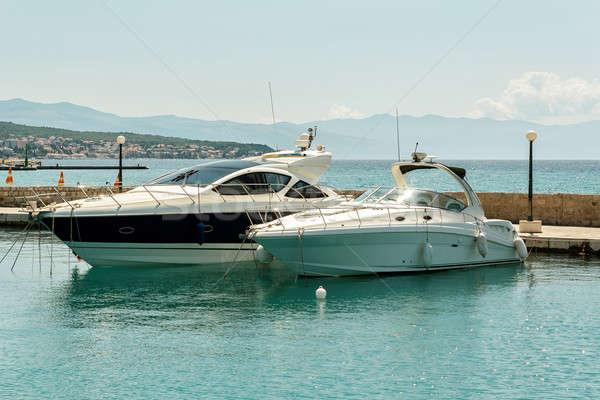 two luxury yachts Stock photo © artush