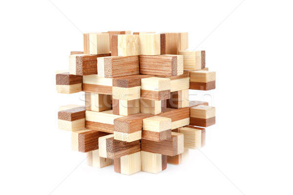 solved wooden puzzle Stock photo © artush
