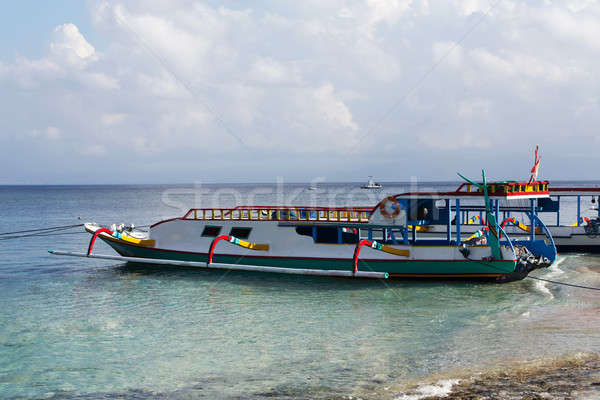 Sueno playa barco bali Indonesia isla Foto stock © artush