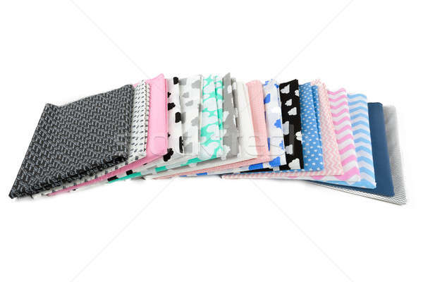 Stack of cotton fabric material Stock photo © artush