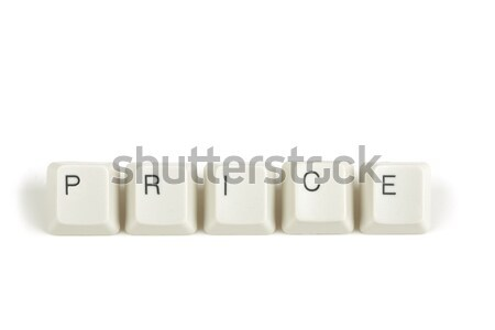 login from scattered keyboard keys on white Stock photo © artush