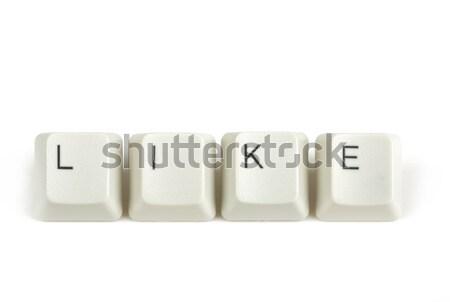 трюк клавиатура ключами белый текста изолированный Сток-фото © artush