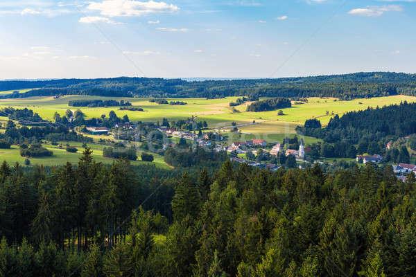 Tcheco paisagem Canadá aldeia Foto stock © artush