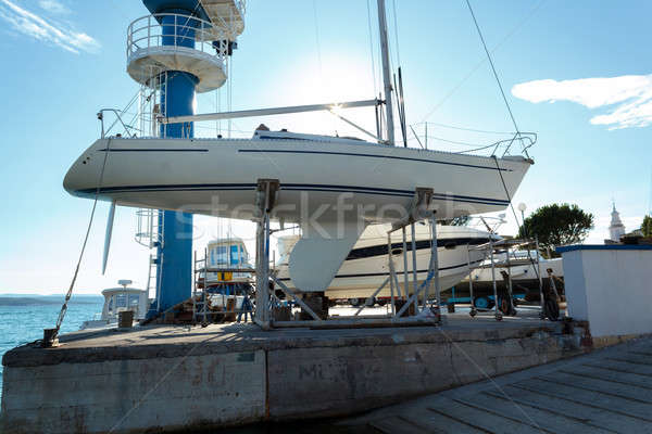 yachts service and shipyard in port Stock photo © artush