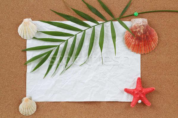 ストックフォト: 紙 · 手のひら · 休暇