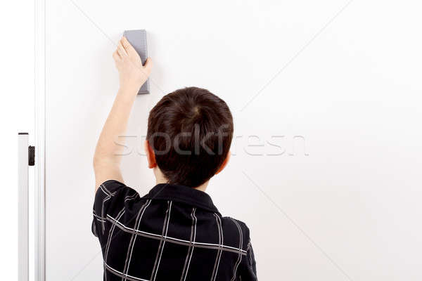 young boy student and whiteboard Stock photo © artush
