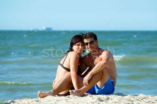 middle age couple on tunisian beach Stock photo © artush