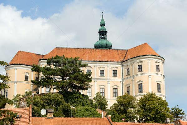 Zamek miasta Czechy widoku południe domu Zdjęcia stock © artush