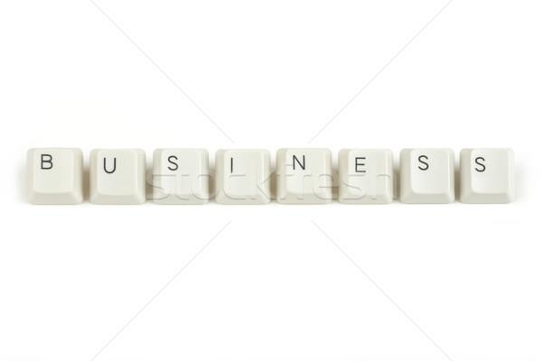 Teclado claves blanco texto aislado oficina Foto stock © artush