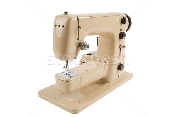 Old vintage sewing machine isolated on white Stock photo © artush