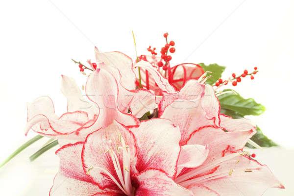 Detail · Bouquet · rosa · Lilie · Blume · weiß - stock foto © Zdeněk ...