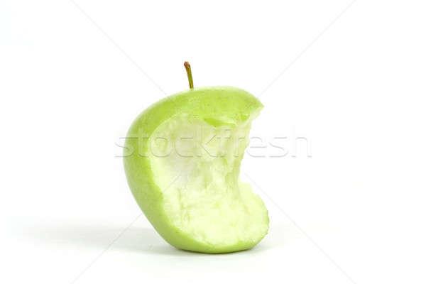 Green bitten apple isolated on white Stock photo © artush