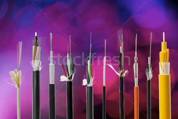 Fiber optical cable collection Stock photo © artush