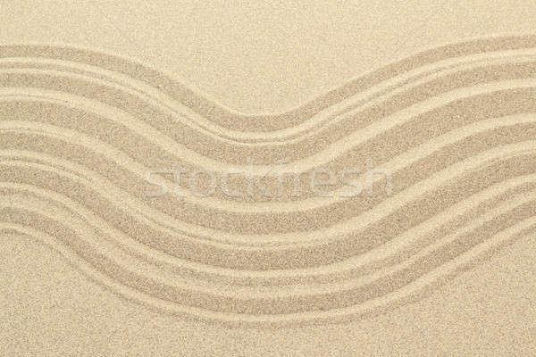 Doku hatları ayrıntılı kum üst Stok fotoğraf © artush