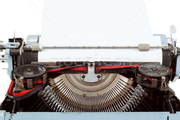 retro typewriter close up with entered paper Stock photo © artush