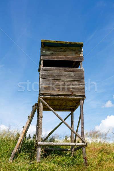 Wooden Hunters High Seat Stock photo © artush