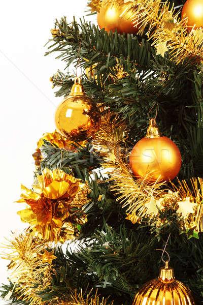 żółty odznaczony choinka wstążka drzewo Zdjęcia stock © artush