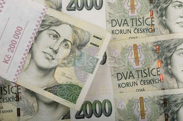 Tsjechisch bankbiljetten waarde twee duizend geld Stockfoto © artush