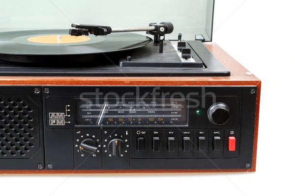 Vintage radio gramophone player with vinyl Stock photo © artush