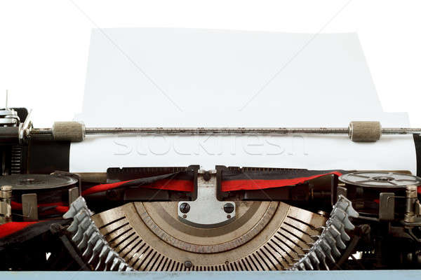 Stock photo: retro typewriter close up with entered paper