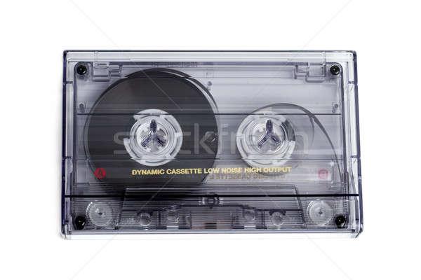 close up of vintage audio tape cassette Stock photo © artush