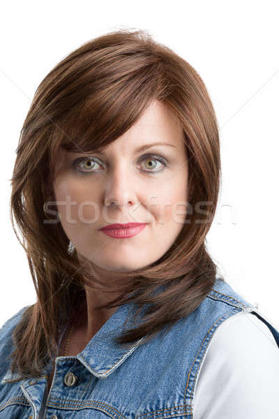beautiful middle age woman cancer patient with wig Stock photo © artush