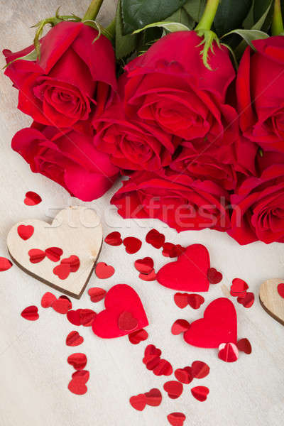Valentine gift red roses Stock photo © artush
